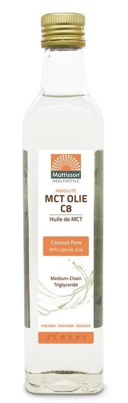 Mattisson Mattisson MCT olie C8 - coconut pure - 99% caprylic acid (500 ml)