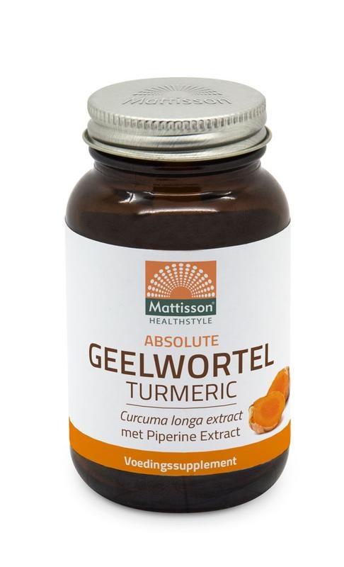 Mattisson Mattisson Absolute geelwortel curcuma turmeric 700 mg (60 tabletten)