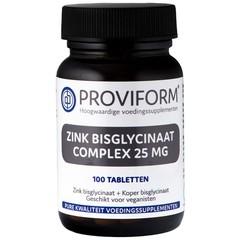 Proviform Zink bisglycinaat 25 mg complex (100 tabletten)