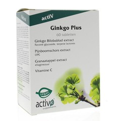 Activo Ginkgo plus (60 tabletten)