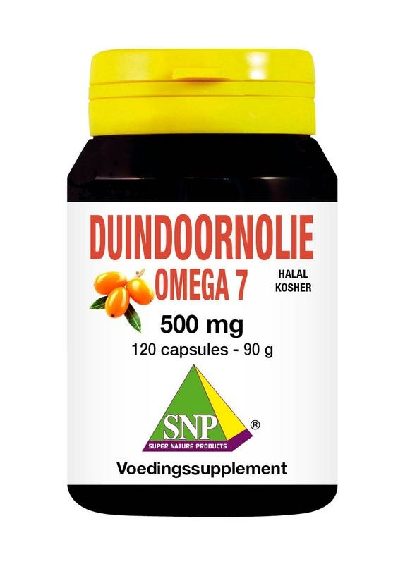 SNP Duindoorn olie omega 7 halal kosher 500 mg (120 capsules)