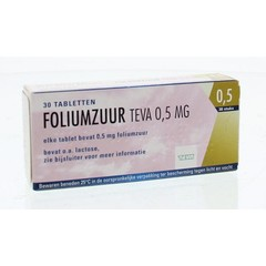 Teva Foliumzuur 0.5 (30 tabletten)