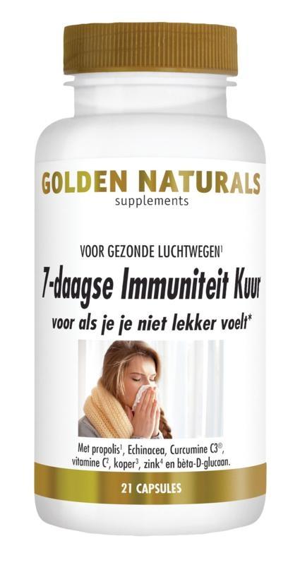 Golden Naturals Golden Naturals 7 Daagse immuniteitskuur (21 capsules)