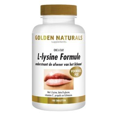 Golden Naturals L-Lysine formule one a day (180 vcaps)