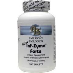 Am Biologics Infla zyme forte ultra (180 tabletten)