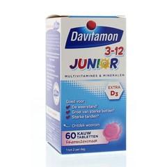 Davitamon Junior 3+ framboos (60 kauwtabletten)
