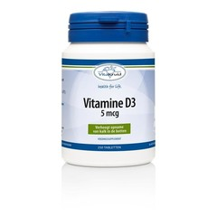 Vitakruid Vitamine D3 5 mcg (250 tabletten)