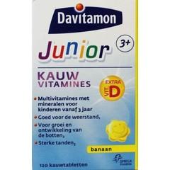 Davitamon Junior 3+ kauwtabletten banaan (120 kauwtabletten)