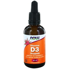 NOW Vitamine D3 druppels 400IE (60 ml)