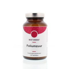 Best Choice Foliumzuur 400 Vitamine B11 (100 tabletten)