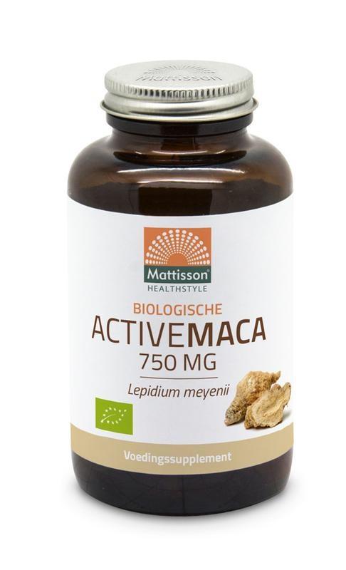 Mattisson Mattisson Biologische Active maca 750 mg (90 vcaps)