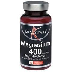 Lucovitaal Magnesium 400 met B6 en L-tryptofaan (60 capsules)