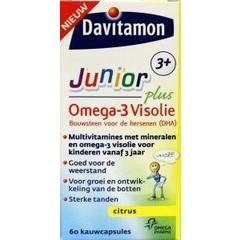 Davitamon Junior 3+ omega 3 visolie (60 capsules)