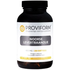 Proviform Noorse levertraanolie (250 softgels)