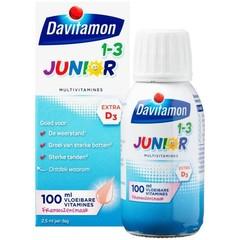 Davitamon Junior 1+ vloeibare vitamines framboos (100 ml)