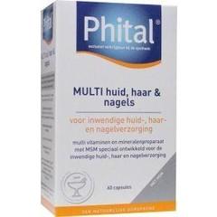 Phital Multi huid haar nagels (60 capsules)