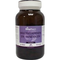 Sanopharm Multivitaminen/mineralen foodstate (90 tabletten)