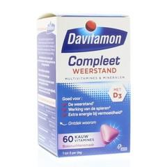 Davitamon Compleet weerstand kauwvitamines bosvruchten (60 tabletten)