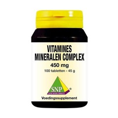SNP Vitamines mineralen complex 450 mg (100 tabletten)