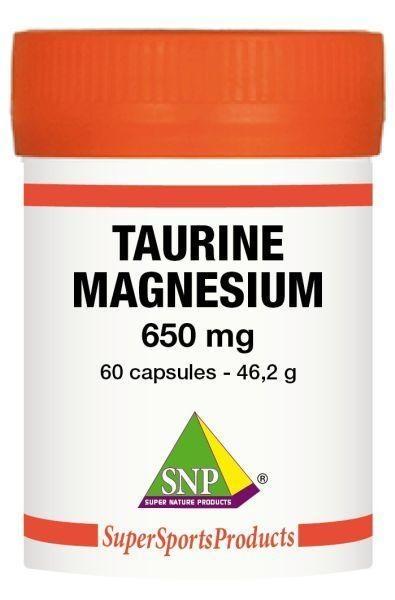 SNP SNP Taurine 325 mg Magnesium 325 mg - Puur (60 capsules)