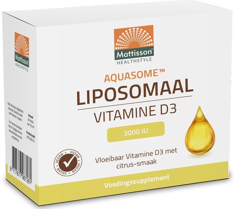 Mattisson Mattisson Aquasome vitamine D3 3000IU liposomaal (30 stuks)