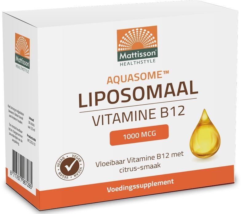 Mattisson Mattisson Aquasome vitamine B12 1000 mcg liposomaal (30 stuks)