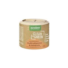 Purasana Clean & green multi vitamins & minerals (60 tabletten)