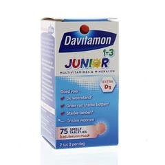 Davitamon Junior 1+ smelttablet (75 tabletten)