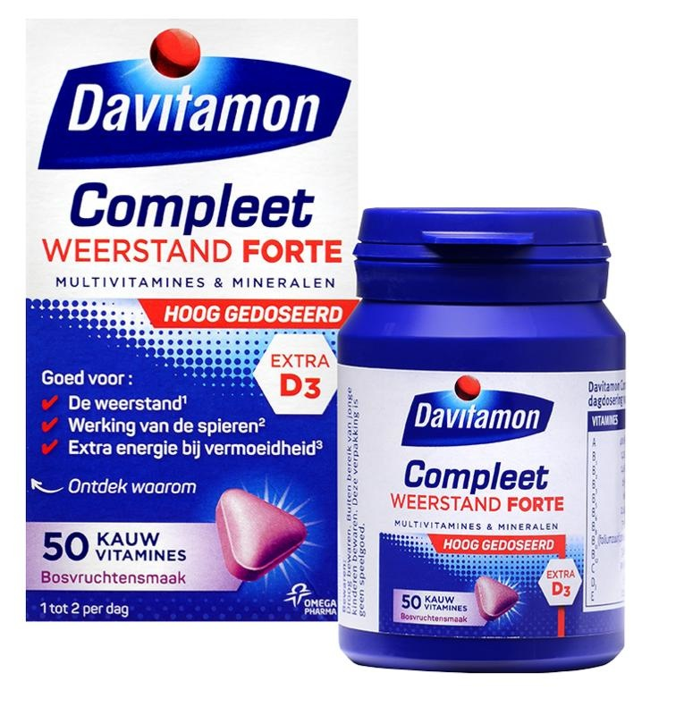 Davitamon Compleet weerstand forte (50 tabletten)