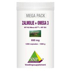 SNP Zalmolie & omega 3 megapack (1200 capsules)