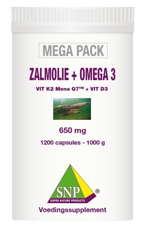 SNP SNP Zalmolie & omega 3 megapack (1200 capsules)