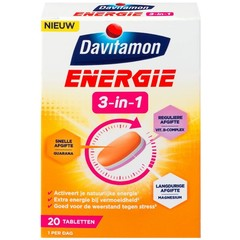 Davitamon Energie 3 in 1 (20 tabletten)
