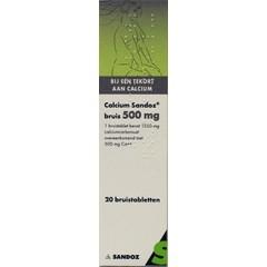Sandoz Calcium 500 mg (20 bruistabletten)