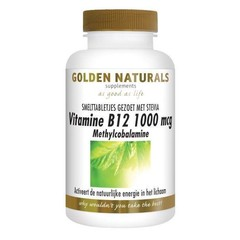 Golden Naturals Vitamine B12 methylcobalamine (100 tabletten)