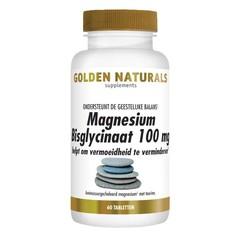 Golden Naturals Magnesium bisglycinaat (60 tabletten)