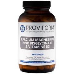 Proviform Calcium magnesium zink bisglycinaat & D3 (180 vcaps)