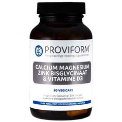 Proviform Calcium magnesium zink bisglycinaat & D3 (90 vcaps)