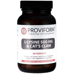 Proviform L-Lysine 500 mg & cats claw (60 vcaps)