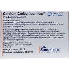 Pascoe Calcium carbonicum N similiaplex (100 tabletten)