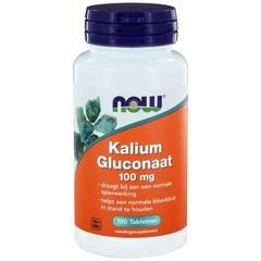 NOW Kalium gluconaat 100 mg (100 tabletten)
