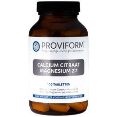 Proviform Calcium magnesium citraat 2:1 (100 tabletten)