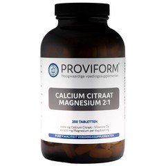 Proviform Calcium magnesium citraat 2:1 (250 tabletten)