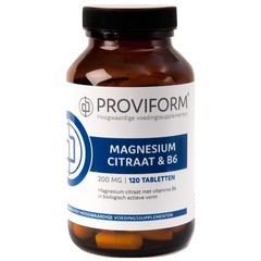 Proviform Magnesium citraat 200 mg & B6 (120 tabletten)