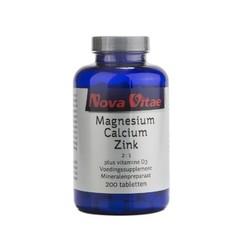 Nova Vitae Magnesium calcium 2:1 zink D3 (200 tabletten)
