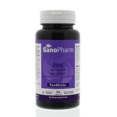 Sanopharm Zink 15 mg & koper 1 mg (60 tabletten)