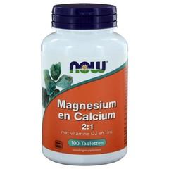 NOW Magnesium & calcium 2:1 (100 tabletten)