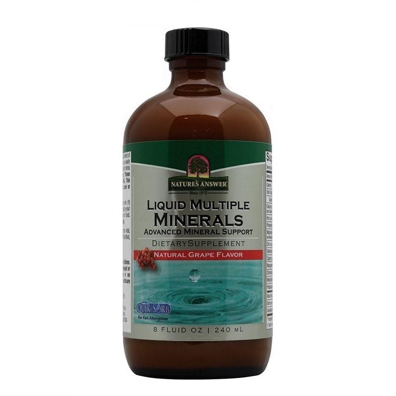 Natures Answer Vloeibaar mineralen - Liquid multiple minerals (240 ml)