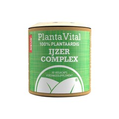 Plantavital IJzer complex - 100% plantaardig (30 vcaps)