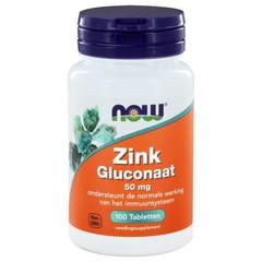 NOW Zink gluconaat 50 mg (100 tabletten)