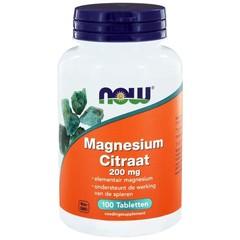 NOW Magnesium citraat 200 mg (100 tabletten)